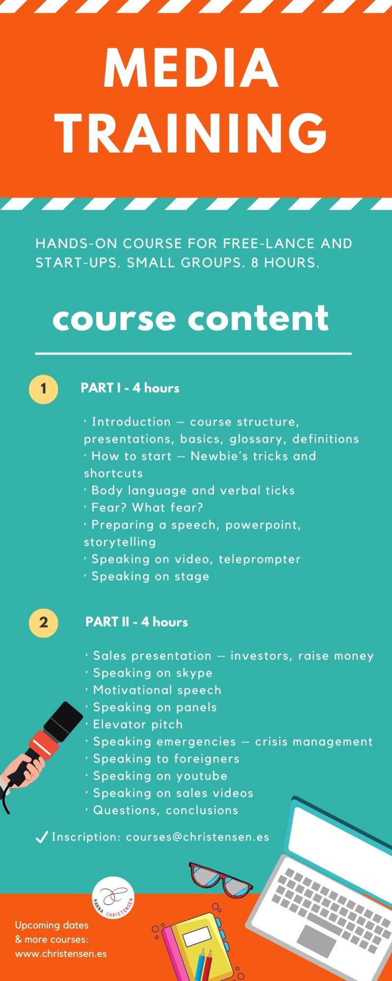 Media Training course in-person online